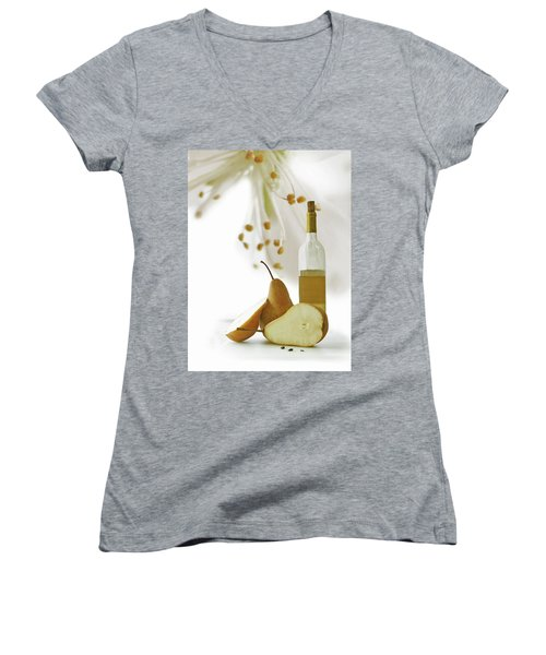 Pears Blossom Women's V-Neck (Athletic Fit)
