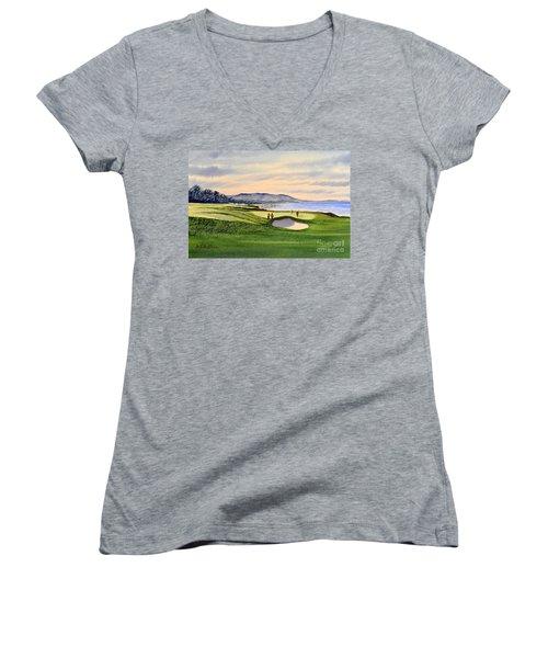 Pebble Beach Golf Course Women's V-Neck (Athletic Fit)