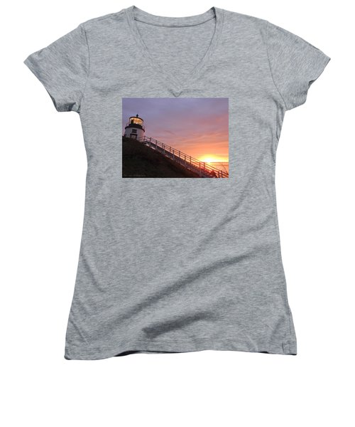 Peeking Sunrise Women's V-Neck