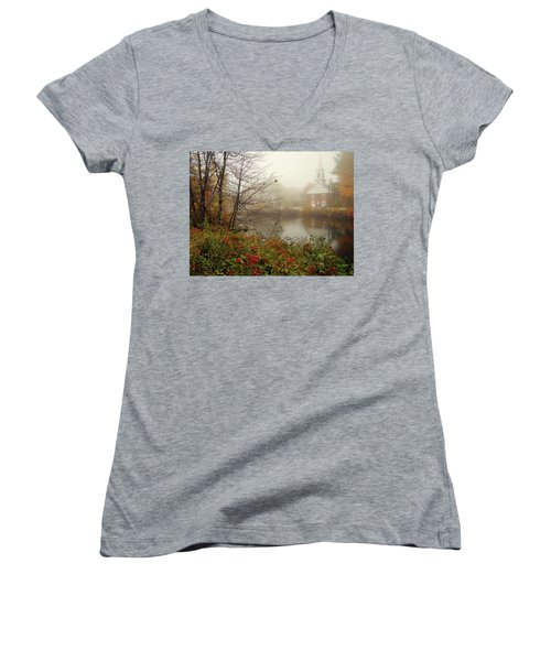 Foggy Glimpse Women's V-Neck (Athletic Fit)
