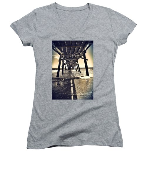 Peir View  Women's V-Neck T-Shirt