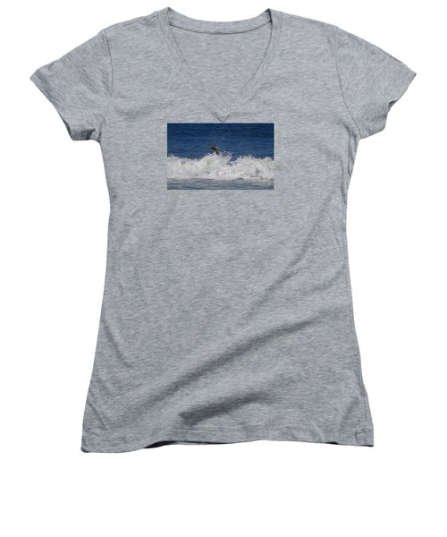 Pelican And Waves Women's V-Neck T-Shirt