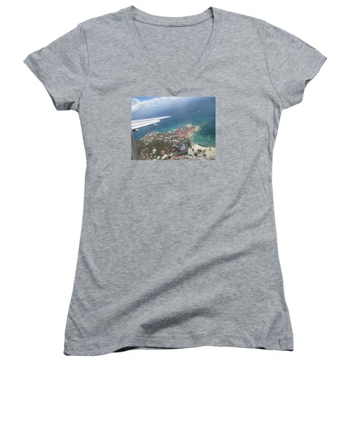 Pelican Key St Maarten Women's V-Neck T-Shirt
