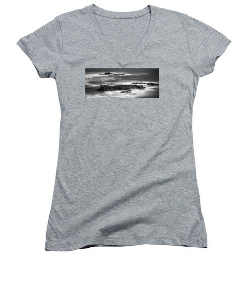 Pelican Rock Women's V-Neck T-Shirt (Junior Cut) by Hugh Smith