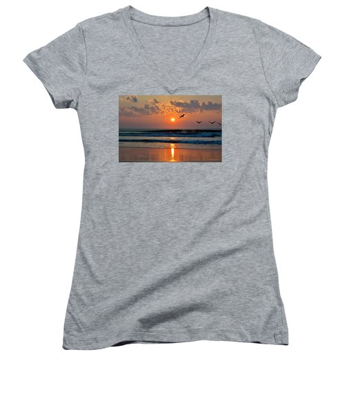 Pelicans On The Move Women's V-Neck