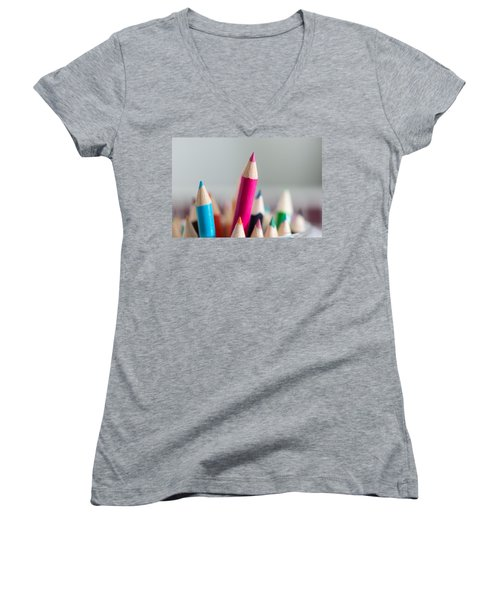 Pencils 4 Women's V-Neck (Athletic Fit)