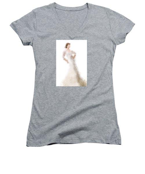 Women's V-Neck T-Shirt (Junior Cut) featuring the digital art Penelope by Nancy Levan