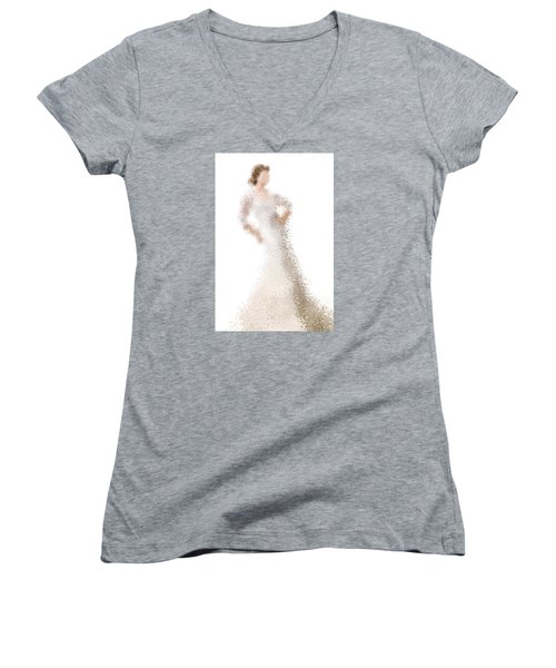 Women's V-Neck T-Shirt featuring the digital art Penelope by Nancy Levan