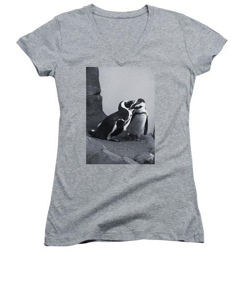 Penguins Women's V-Neck T-Shirt