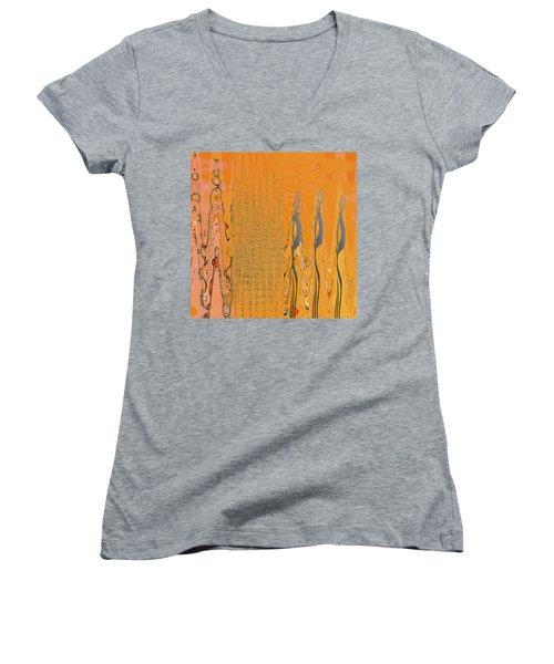 Penman Original-500 Women's V-Neck T-Shirt (Junior Cut) by Andrew Penman