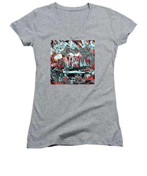 Penman Original-565 Women's V-Neck T-Shirt (Junior Cut) by Andrew Penman