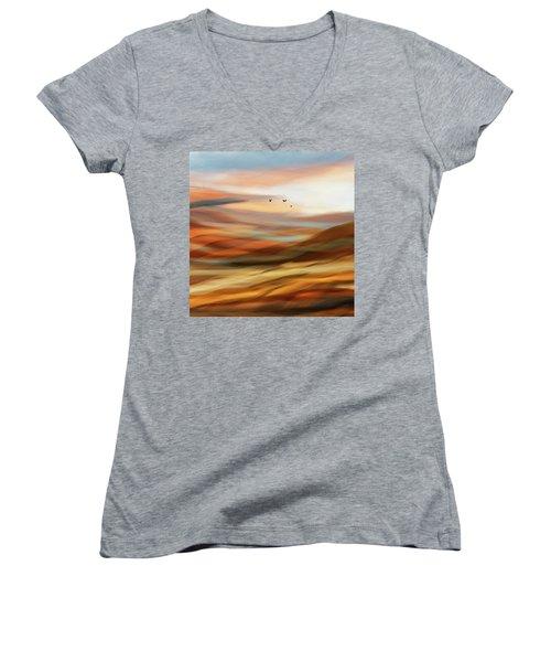 Penman Original-730 Women's V-Neck T-Shirt (Junior Cut) by Andrew Penman