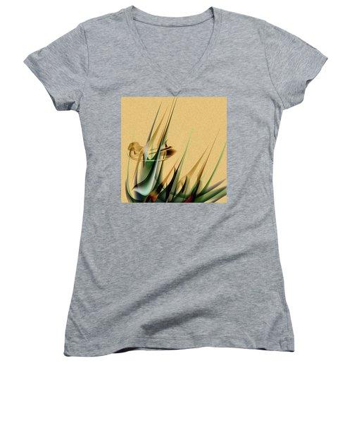 Penmanoriginal-559 Women's V-Neck T-Shirt (Junior Cut) by Andrew Penman
