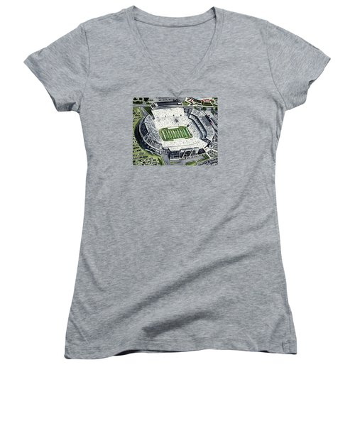 Penn State Beaver Stadium Whiteout Game University Psu Nittany Lions Joe Paterno Women's V-Neck T-Shirt