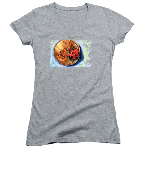 Penny And Lady Bug Women's V-Neck (Athletic Fit)