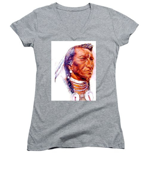 Pensive Women's V-Neck T-Shirt