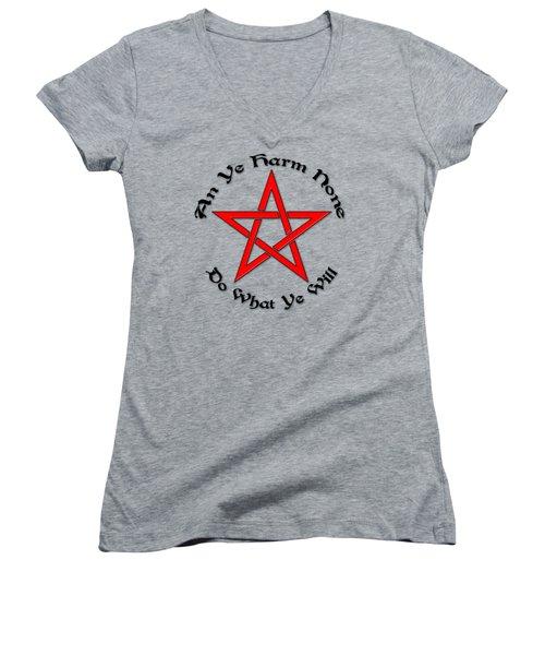Pentagram Women's V-Neck