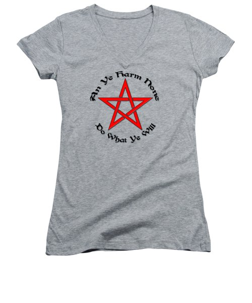 Pentagram Women's V-Neck (Athletic Fit)