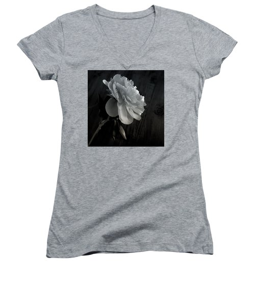 Peonie Women's V-Neck T-Shirt (Junior Cut) by Sharon Jones