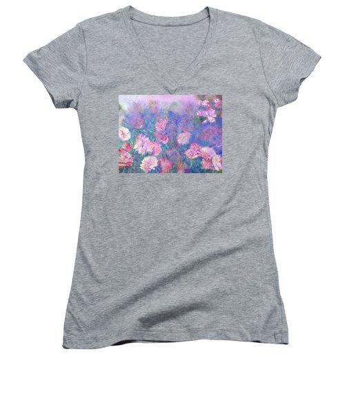 Peonies Women's V-Neck T-Shirt