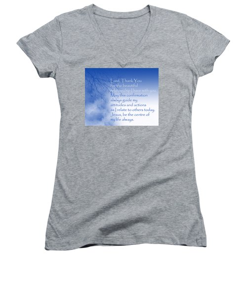 Perfect Relationship Women's V-Neck T-Shirt (Junior Cut) by Trilby Cole