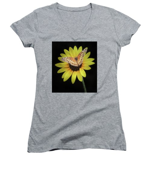 Perfect Timing Women's V-Neck T-Shirt (Junior Cut) by Elaine Malott