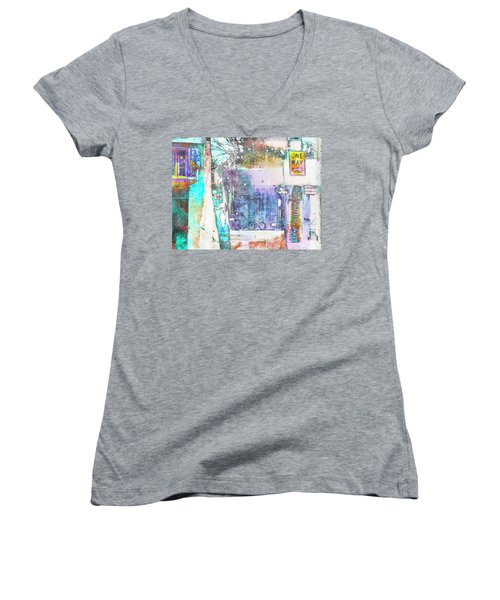 Women's V-Neck T-Shirt (Junior Cut) featuring the photograph Performance Arts by Susan Stone