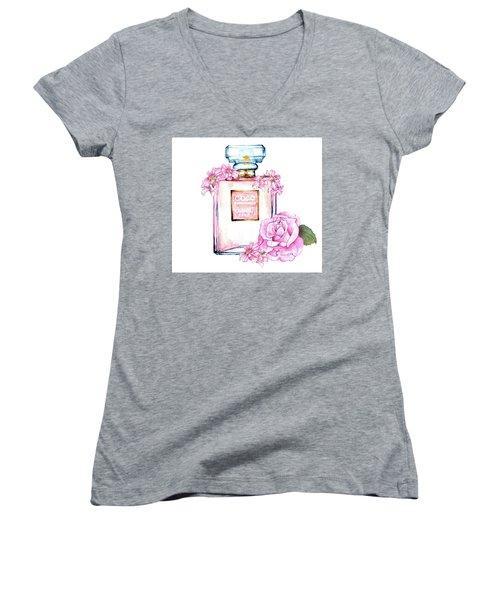 Perfume Florals Women's V-Neck T-Shirt