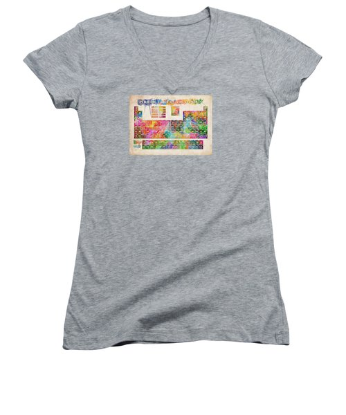 Periodic Table Of The Elements 10 Women's V-Neck (Athletic Fit)