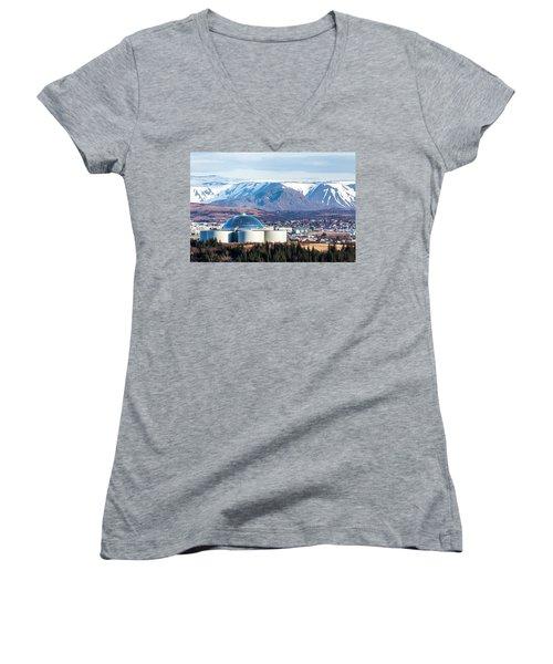 Perlan Women's V-Neck T-Shirt (Junior Cut) by Wade Courtney