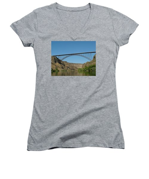 Perrine Bridge Women's V-Neck T-Shirt