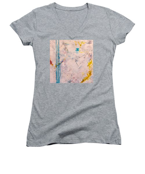 Perserverance Women's V-Neck T-Shirt (Junior Cut) by Gallery Messina