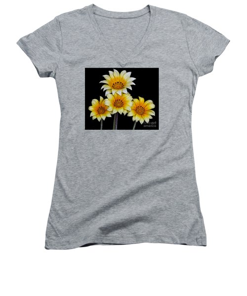 Women's V-Neck T-Shirt (Junior Cut) featuring the photograph Peruvian Daisies by Shirley Mangini
