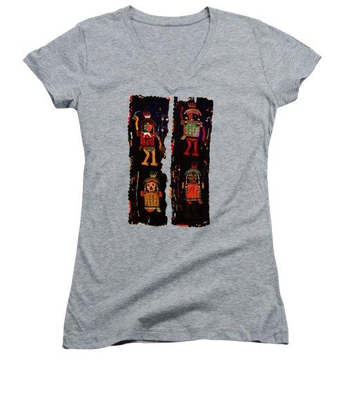 Peruvian Fab Art Women's V-Neck T-Shirt