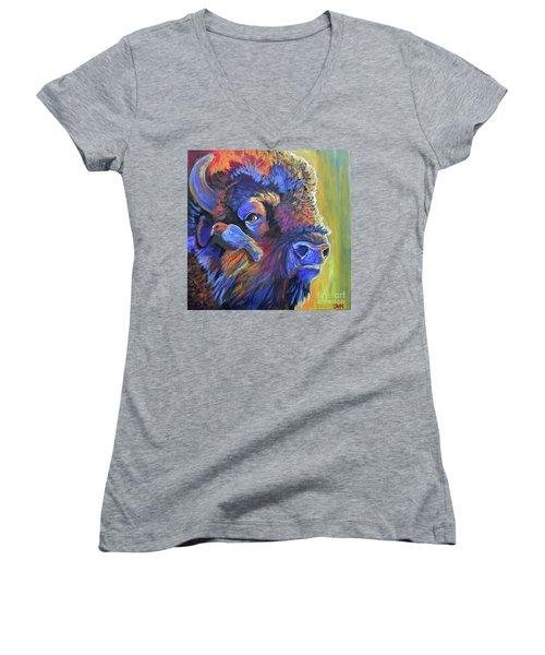 Pesky Cowbird Women's V-Neck T-Shirt
