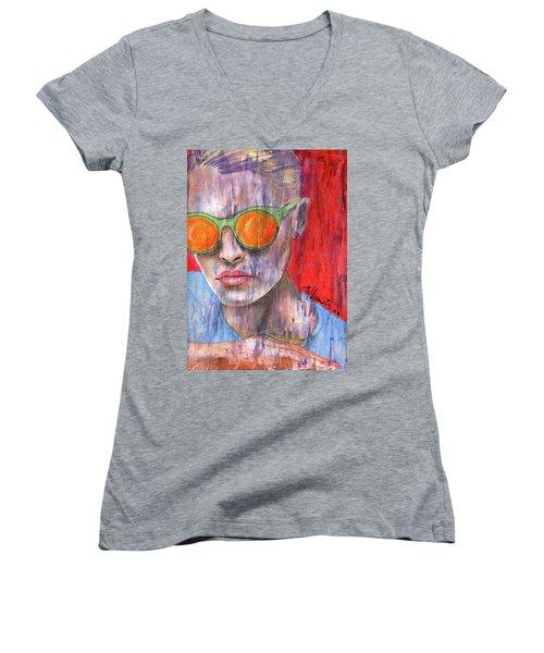 Peta Women's V-Neck T-Shirt (Junior Cut)