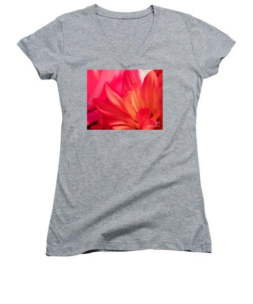 Petal Abstract Women's V-Neck