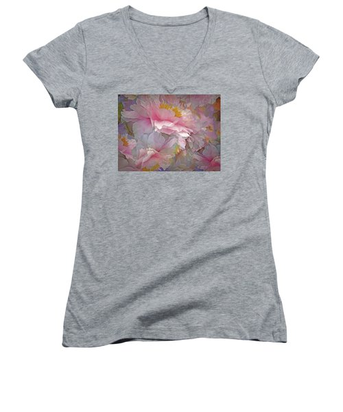 Petal Dimension 20 Women's V-Neck (Athletic Fit)