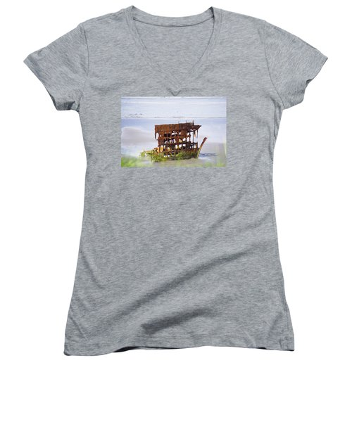 Peter Iredale Women's V-Neck T-Shirt (Junior Cut) by Angi Parks