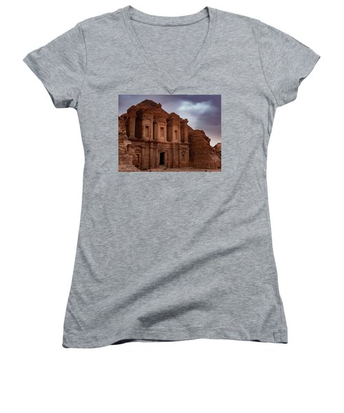 Petra's Monastery Women's V-Neck (Athletic Fit)