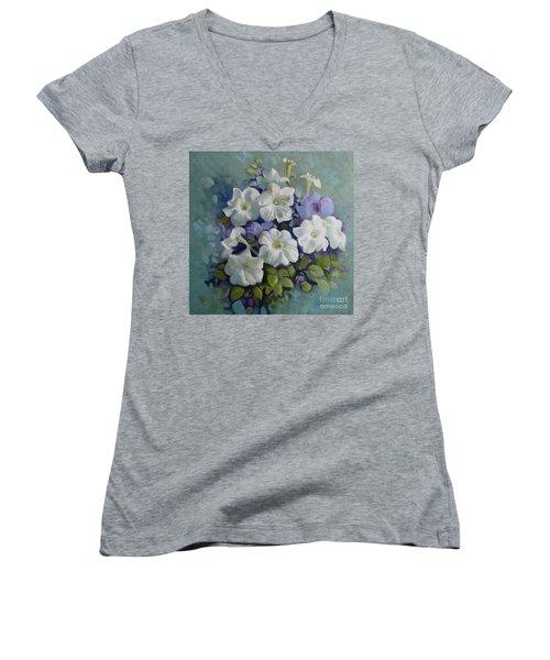 Petunias Symphony Women's V-Neck T-Shirt