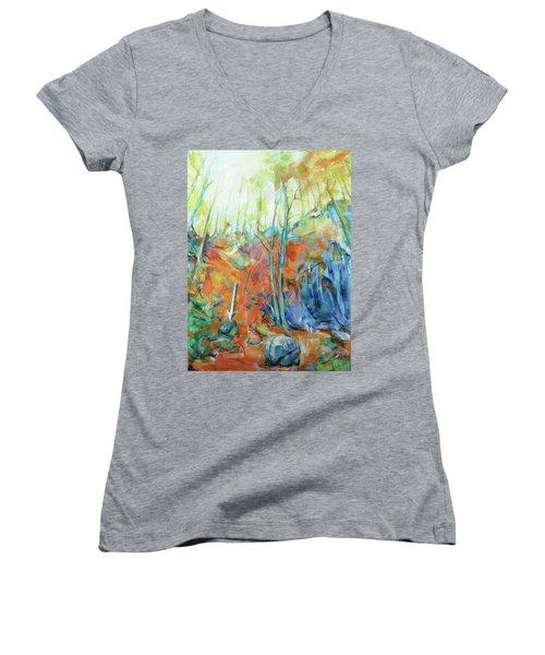 Pfeil - Arrow Women's V-Neck T-Shirt (Junior Cut) by Koro Arandia