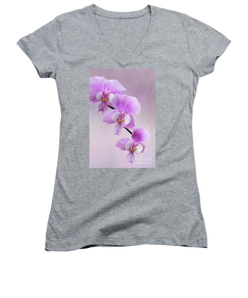 Phalaenopsis Schilleriana Fragrant Butterfly Orchid V2 Women's V-Neck (Athletic Fit)