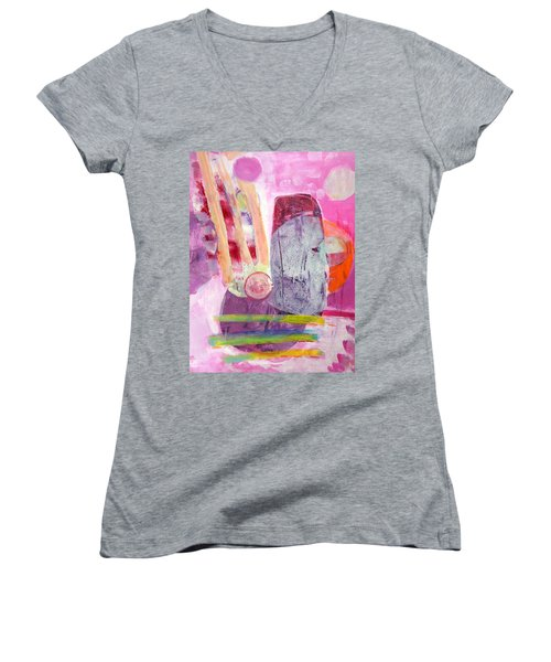 Phases Women's V-Neck T-Shirt (Junior Cut) by Mary Schiros