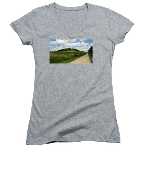 Pheasant Branch Hill Women's V-Neck T-Shirt