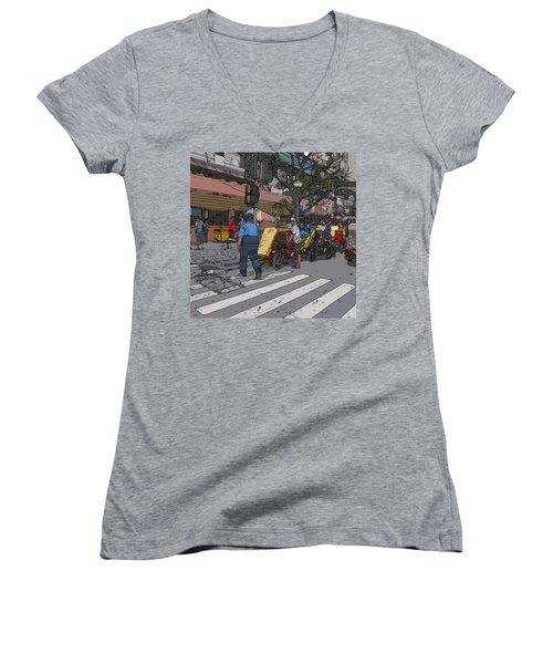 Philippines 906 Crosswalk Women's V-Neck