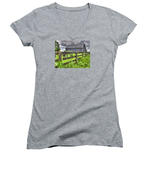 Phillip's Barn #4 Women's V-Neck