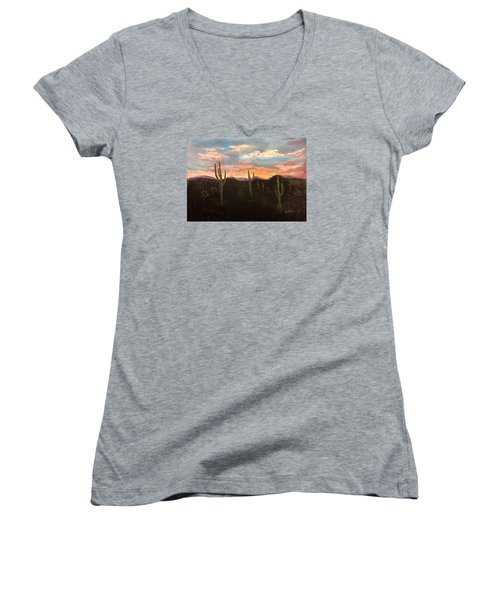 Phoenix Az Sunset Women's V-Neck