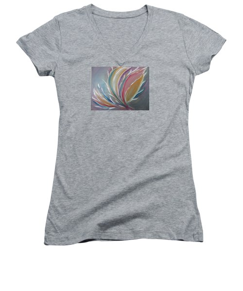 Phoenix Rising Women's V-Neck T-Shirt (Junior Cut) by Sharyn Winters