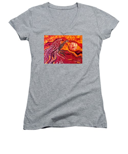 Phoenix Sweeps The Earth Women's V-Neck (Athletic Fit)